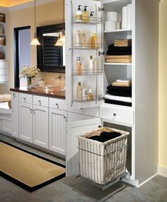 25 Inventive Bathroom Storage Ideas Made Easy is part of Bathroom linen tower - Have a small bathroom room and running out of space to put all of your stuff We've compiled a list of 25 brilliant bathroom storage ideas that will help you create more space Small Bathroom Storage, Simple Bathroom, Bathroom Organization, Organization Ideas, Bathroom Shelves, Small Master Bathroom Ideas, Built In Bathroom Storage, Bathroom Vanity Storage, Organising Ideas