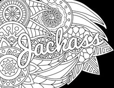 jackass adult coloring page color swear blackout free coloring pages comes