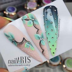 Garra, Red Acrylic Nails, Floral Nail Art, Nail Candy, Pretty Nail Art, Dream Nails, Nail Art Hacks, Nail Pro, Nails Magazine