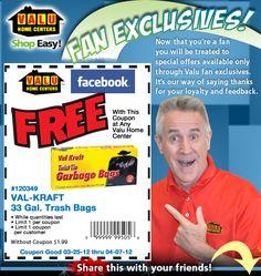 FREE Val-Kraft Trash Bags @ Valu Home Centers