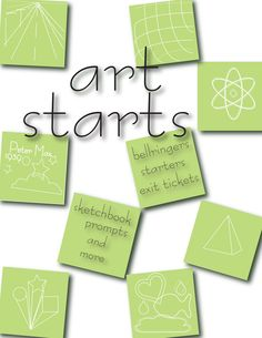 Ready to reproduce art activities for the busy art teacher.  Bell-ringers and more! Book or digital copy of book available at Teachers pay Teachers.  book available on Amazon.