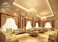 luxury men majlis design by Algedra Modern Home Interior Design, Residential Interior Design, Interior Design Companies, Luxury Home Decor, Luxury Homes, Hall Design, W Hotel, Elegant Homes, Ceiling Design