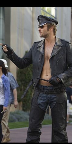 Johann Urb in leather chaps