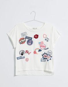 BSK T-shirt patch - T- Shirts - Bershka Colombia