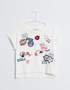 BSK T-shirt patch - T- Shirts - Bershka Colombia
