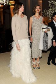 Jenna Lyons: ultimate outfit = casual sweater with dressy maxi skirt