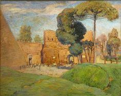 """Porta San Paola, Rome,"" Harry B. Lachman, 1921, oil on canvas, 19.75 x 24"", private collection."
