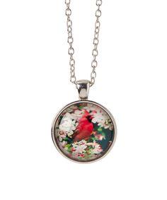 Red Cardinal Pendant Necklace by Bubbly Bows #zulily #zulilyfinds