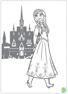 Easy Frozen Coloring pages