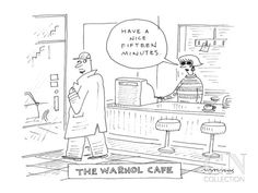 The Warhol Café - Cartoon Poster Print by Mick Stevens at the Condé Nast Collection