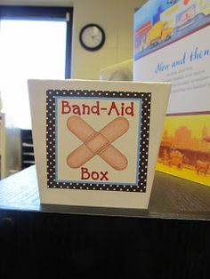 Freebie - Band-Aid Box label to use in your classroom for easy storage of band-aids!