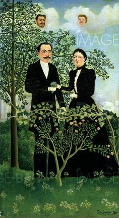 Le Passé et le présent - Henri-Rousseau -1899 Musée: The Barnes Foundation