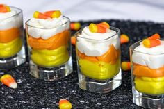 Candy Corn Mousse Cups ~ Halloween Treats from our Blogging Friends - Daily Dish Magazine