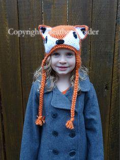 Freya Fox Crocheted Hat Pattern  Instant Download by HHCrafts