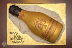 Ace of Spades champagne  bottle cake.