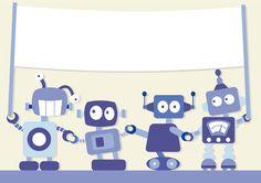 Designscrapbook: New robot illustrations Robot Background, Robot Illustration, Illustrations, Robot Nursery, Robot Monster, Transformer Birthday, Stork, Online Images, Sci Fi