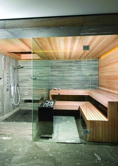 Sauna In The Home- 17 Outstanding Ideas That Everyone Need T.- Sauna In The Home- 17 Outstanding Ideas That Everyone Need To See Sauna In The Home 17 Outstanding Ideas That Everyone Need To See - Spa Design, Design Sauna, Design Ideas, Spa Interior Design, Interior Modern, Gym Interior, Modern Luxury, Sauna Shower, Shower Seat
