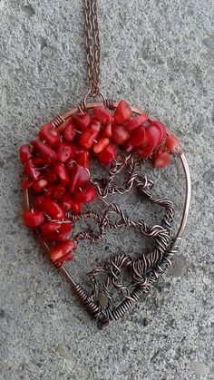 Tree of life pendant Handmade copper wire pendant by Tangledworld