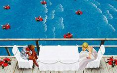 Descansando em alto mar...