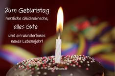Zum Geburtstag alles Gute, herzliche Glückwünsche und ein wunderbares neues Lebensjahr! Animierte Geburtstagskarte