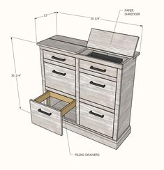 The Mail Boss - New ideas Furniture Projects, Home Projects, Diy Furniture, Ana White Furniture, Mail Boss, Woodworking Furniture Plans, Woodworking Machinery, Woodworking Bench, Fine Woodworking