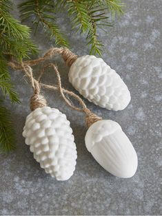 Decorate your home with these wonderfully tactile woodland themed ceramic decorations - the best winter treasures we could find. Bohemian Christmas, Woodland Christmas, Nordic Christmas, Christmas Mood, Christmas Countdown, A Christmas Story, White Christmas, Christmas Crafts, Christmas Ornaments