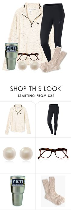 """It's so cold omg!!"" by carolinaprep137 ❤ liked on Polyvore featuring NIKE, Links of London, Cutler and Gross and J.Crew"