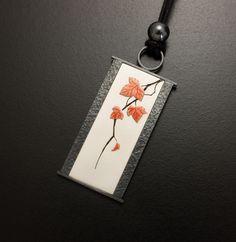 Autumn leaf motif silver pendant от KAZNESQ на Etsy