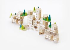 Build the world you want to see with Blockitecture®, a set of architectural building blocks by designer James Paulius.