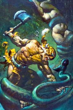 Jaguar God by Simon Bisley...excuse me while I worship everything this man puts out....ever!