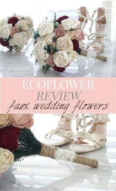 Curious about using a fake flower bouquet for your wedding? Check out this review of Ecoflower to see if it's the right choice for you. | Slashed Beauty
