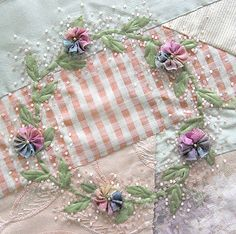 Quilter's Fancy, Shabby Chic Sugared Wreath designed by Cindy Oravecz