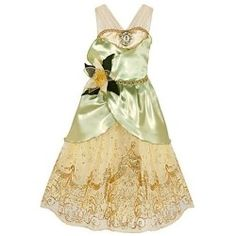 Disney Store Tiana Halloween Costume Dress Size Medium 7/8: The Princess and the Frog