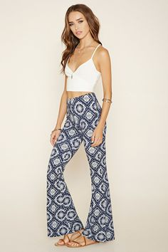 Paisley Flared Pants   Forever 21 - 2000204819