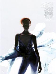 Slip Stream | Maggie Rizer | Nick Knight #photography | Vogue UK April 2000