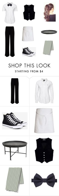 """""""Waitressing"""" by amykershaw ❤ liked on Polyvore featuring Mint Velvet, Converse, AG Adriano Goldschmied, Pehr and Armani Collezioni"""