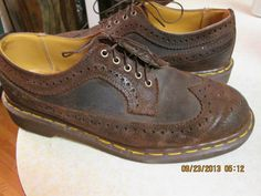 Vintage Doc Dr Martens Made in England Brown by Simplemiles, $74.00