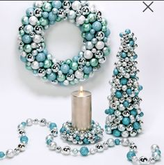 Tiffany blue Christmas | blue and silver Christmas decorations