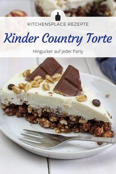Ein tolles Rezept für eine Kinder Country Torte mit echtem Kinder Country. Weitere Rezepte findest Du auf www.kitchensplace.de Strudel, No Bake Cake, Pie, Pudding, Baking, Desserts, Recipes, Food, Sheet Cakes