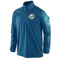 1ee702b2bd4 Nike Miami Dolphins Nfl Sideline Defender Hybrid Jacket Men's Marina   Coat,  Jacket and Clothing