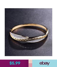 Bracelets Stunning Wedding Antique Gift Sapphire Crystal Bangle Gold Filled Cuff  Bracelet  ebay  Fashion 039c7036b402