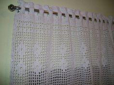 Crochet Motif, Crochet Designs, Knit Crochet, Crochet Patterns, Crochet Curtains, Valance Curtains, Window Treatments, Crochet Projects, Diy And Crafts
