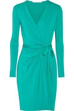 Diane von Furstenberg Valencia Stretch-Jersey Wrap Dress