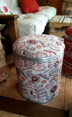 footstool barrel