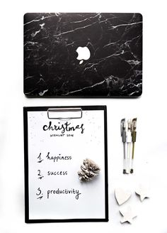 Christmas Wishlist with case app. HAPPINES,  SUCCES & PRODUCTIVITY