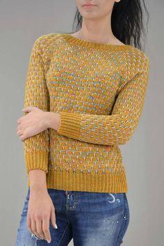 Γυναικείο πουλόβερ πολύχρωμο  PLEK-2735-mu  Πλεκτά > Πλεκτά και ζακέτες Pullover, Sweaters, Fashion, Moda, Fashion Styles, Sweater, Fashion Illustrations, Sweatshirts, Pullover Sweaters