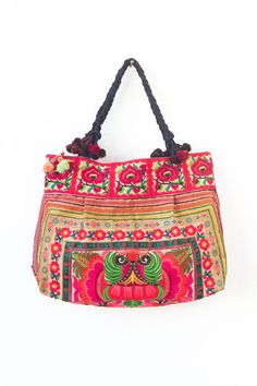Orange Orchids Tribal Tote Bag Hmong Tribe by Changnoibags on Etsy