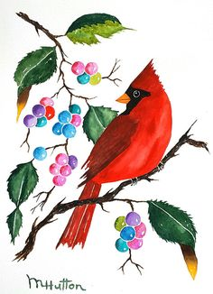 25 super Ideas for red bird painting cardinals dads Watercolor Water, Watercolor Paintings, Flower Paintings, Watercolor Flowers, Painted Christmas Cards, Christmas Gifts, Shabby Chic Wall Art, Bird Houses Painted, Bird Illustration