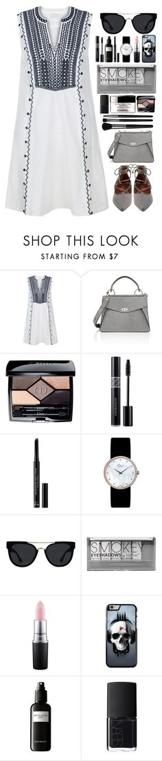 """Smokey Skull // itsybitsy62"" by itsybitsy62 ❤ liked on Polyvore featuring Monsoon, Proenza Schouler, Christian Dior, Quay, Boohoo, MAC Cosmetics, David Mallett, NARS Cosmetics, Illamasqua and solesisters"