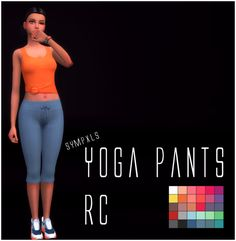 """sympxls:  """" Sympxls Yoga Pants RC • 28 colors  • Custom thumbnail  • Mesh needed. DL it HERE.  """"Mesh credits to @witheredlilies.  """"  DOWNLOAD: SimFileShare or SimsWorkshop  Happy Simming!  """""""